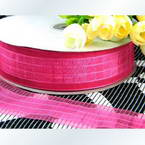 Organza ribbon, Magenta, 3.8cm x 1m, 1 piece