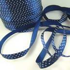 Satin ribbon, Dark blue, 1cm x 2m, 1 piece