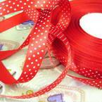 Satin ribbon, red, 1.5cm x 2m, 1 piece