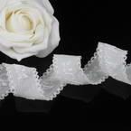 Ribbon, Polyester, white, 1m x 2.8cm