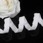 Ribbon, Polyester, white, 1m x 1cm