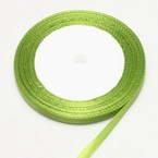 Ribbon, Satin, Olive-Green, 22m x 0.6cm (approximate)