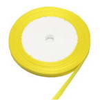 Ribbon, Satin, Yellow, 22m x 0.6cm (approximate)