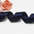 Double faced Colour Ribbons, Polyester, blue, 1.84m x 25mm