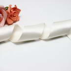 Double faced Colour Ribbons, Polyester, Cream colour, 92cm x 38mm