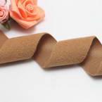 Woolen Ribbons, Woolen, brown, 100cm x 3cm