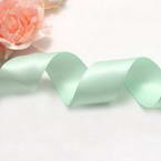 Double faced Colour Ribbons, Polyester, Light green, 1.84m x 2.5cm
