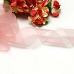 Ribbon, Sheer, pink, 2.5m x 2.5cm