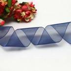 Ribbon, Sheer, blue, 2.5m x 2.5cm