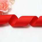Grosgrain Ribbons, Polyester, Pinkish red, 92cm x 2.5cm