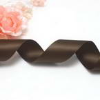 Double faced Colour Ribbons, Polyester, Light brown, 1.84m x 2.5cm