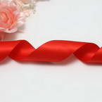 Double faced Colour Ribbons, Polyester, Pinkish red, 1.84m x 2.5cm