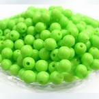 Acrylic beads, green, Spherical, Diameter 6mm, 7g, 50 beads