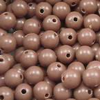 Acrylic beads, brown, Spherical, Diameter 6mm, 7g, 50 beads