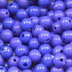 Acrylic beads, blue, Spherical, Diameter 6mm, 7g, 50 beads
