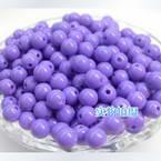 Acrylic beads, purple, Spherical, Diameter 6mm, 7g, 50 beads