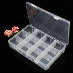 Storage box, Plastic, white, 19.5cm x 13cm x 3.5cm, 1 piece, 12 compartments
