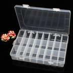 Storage box, Plastic, white, 19.5cm x 13cm x 3.5cm, 1 piece, 24 compartments