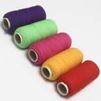 Nylon thread for Mesh flowers, Nylon, Burgandy, green, Magenta, Indigo, 5 Spools of thread