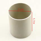Plastic cylinders for Mesh flowers, Plastic, grey, 3.2cm x 3.2cm x 4.3cm, 1  piece