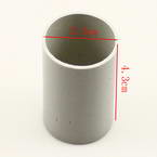 Plastic cylinders for Mesh flowers, Plastic, grey, 2.5cm x 2.5cm x 4.3cm, 1  piece