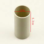 Plastic cylinders for Mesh flowers, Plastic, grey, 2cm x 2cm x 4.3cm, 1  piece