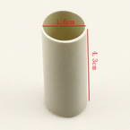 Plastic cylinders for Mesh flowers, Plastic, grey, 1.6cm x 1.6cm x 4.3cm, 1  piece