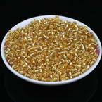 Beads, Seed beads, Glass, Dark orange, Disc shape, Diameter 4mm, 25g, 300 Beads