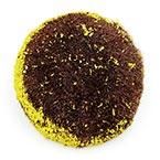 Chrysanthemum flower stamen, Plastic, brown, 4.5cm x 4.5cm, 5 pieces