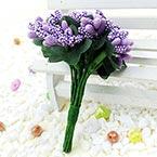 Mini Bouquet Flower Stamen - Speckled, Indigo, 12 pieces, Long 9.5cm