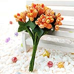 Mini Bouquet Flower Stamen - Speckled, orange, 12 pieces, Long 9.5cm