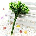 Mini Bouquet Flower Stamen - Speckled, Olive-Green, 12 pieces, Long 9.5cm