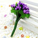 Mini Bouquet Flower Stamen - Pearlescent, Indigo, 12 pieces, Long 9.5cm