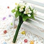 Mini Bouquet Flower Stamen - Pearlescent, Light Yellow, 12 pieces, Long 9.5cm