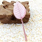 Rose leaf, Artificial fibers and wires, pink, 11cm x 3cm (approximate), 10 pieces