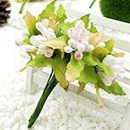 Mini Bouquet Flower Stamen - Big Glass Head, white, 10 pieces, Long 9cm