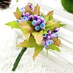 Mini Bouquet Flower Stamen - Big Glass Head, Light purple, 10 pieces, Long 9cm