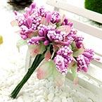 Mini Bouquet Flower Stamen - Speckled and petal, Violet, 10 pieces, Long 9cm