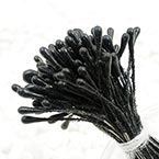 Matt bulb Stamens, black, Matt (not shiny), 120 pieces (approximate)