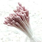 Matt bulb Stamens, pink, Matt (not shiny), 120 pieces (approximate)
