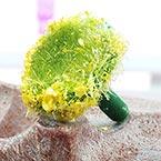 Chrysanthemum flower stamen, Plastic, Olive, 2cm, 8 pieces