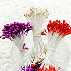 Flower stamen, Pinkish red, white, Dark purple, 240 pieces (approximate)