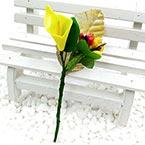 Floral embellishments, Yellow, 10cm x 4.5cm, 1 Flower