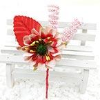 Floral embellishments, Burgandy, pink, 12.5cm x 5.5cm, 1 Flower