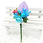 Floral embellishments, blue, Light purple, 12cm x 3.5cm, 1 Flower