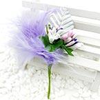 Floral embellishments, Indigo, white, 11cm x 5.8cm, 1 Flower