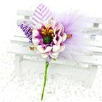 Floral embellishments, Indigo, 12.5cm x 6cm, 1 Flower