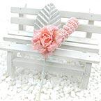 Floral embellishments, pink, Silver colour, 11cm x 4.5cm, 1 Flower