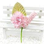 Floral embellishments, pink, Gold colour, 11cm x 5.5cm, 1 Flower