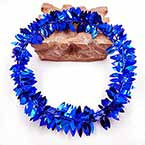 Rattan leaves, wires and Plastic, Dark blue, 1m